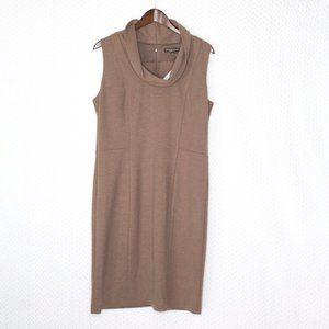 Adrienne Vittadini Cowl Neck Tan Dress
